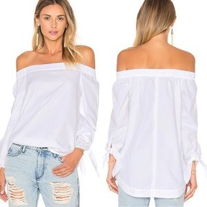 Free People NWT Show Some Shoulder White Top